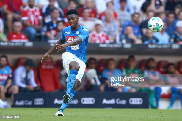 Amadou Diawara of Napoli during the Audi Cup 2017 match between SSC Napoli and FC Bayern Muenchen at Allianz Arena on August 2 2017 in Munich Germany