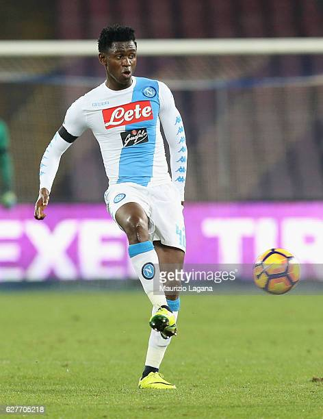 Amadou Diawara of Napoli during the Serie A match between SSC Napoli and FC Internazionale at Stadio San Paolo on December 2 2016 in Naples Italy