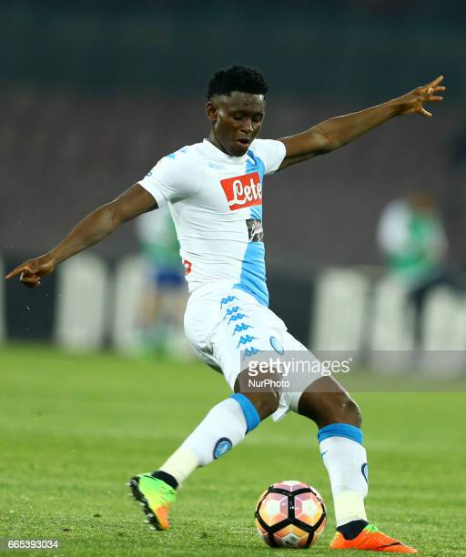 Amadou Diawara of Napoli during the TIM Cup match between SSC Napoli and Juventus FC at Stadio San Paolo on April 5 2017 in Naples Italy