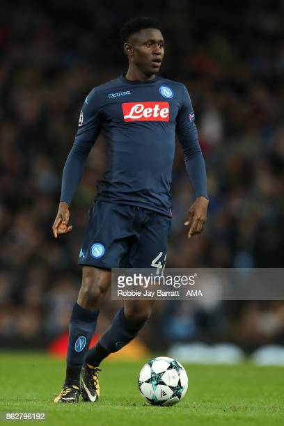 Amadou Diawara of Napoli during the UEFA Champions League group F match between Manchester City and SSC Napoli at Etihad Stadium on October 17 2017...