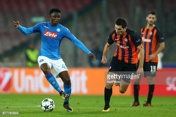 Amadou Diawara of Napoli during the UEFA Champions League Group F football match Napoli vs Shakhtar Donetsk on November 21 2017 at the San Paolo...