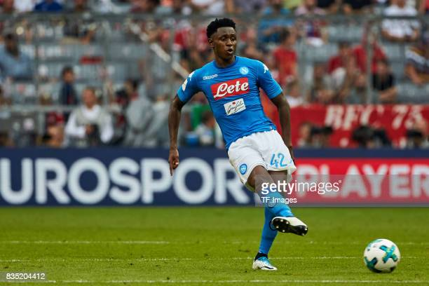 Amadou Diawara of Napoli in action during the Audi Cup 2017 match between SSC Napoli and FC Bayern Muenchen at Allianz Arena on August 2 2017 in...
