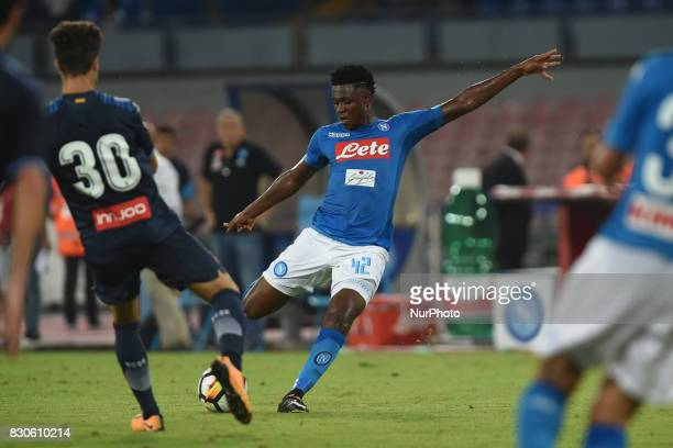Amadou Diawara of SSC Napoli during the Preseason Frendly match between SSC Napoli and RCD Espanyol at Stadio San Paolo Naples Italy on 10 August 2017