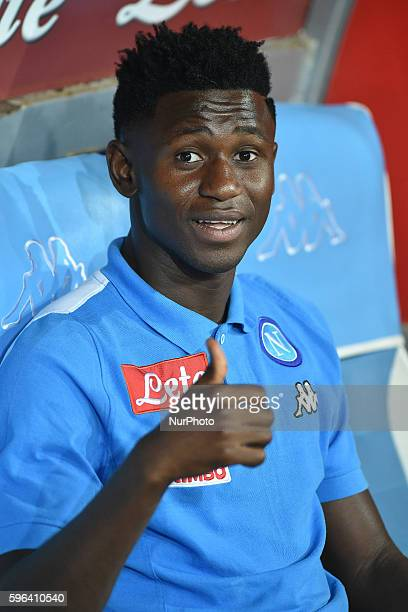 Amadou Diawara of ssc Napoli during the Serie A match between Napoli v Milan at San Paolo Stadium on August 27 2016 in Naples Italy