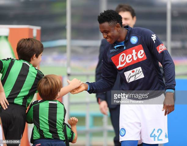 Amadou Diawara of SSC Napoli during the Serie A match between SSC Napoli and US Sassuolo at Stadio San Paolo on October 29 2017 in Naples Italy