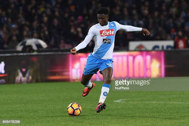 Amadou Diawara of SSC Napoli during the Serie A TIM match between SSC Napoli and Atalanta BC at Stadio San Paolo Naples Italy on 25 February 2017