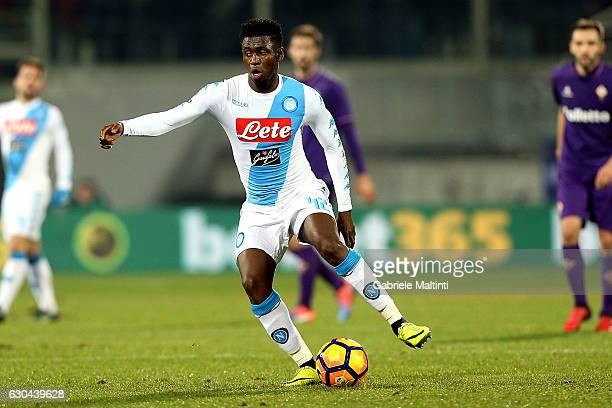 Amadou Diawara of SSC Napoli in action during the Serie A match between ACF Fiorentina and SSC Napoli at Stadio Artemio Franchi on December 22 2016...