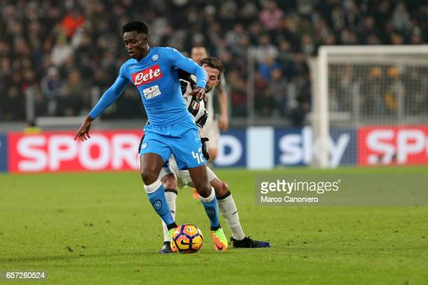 Amadou Diawara of Ssc Napoli in action during the TIM Cup semifinal first leg football match between Juventus FC and SSC Napoli Juventus FC wins 31...
