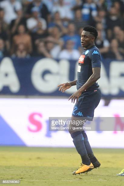 Amadou Diawara of SSC Napoli looks on during the Serie A match between Spal and SSC Napoli at Stadio Paolo Mazza on September 23 2017 in Ferrara Italy