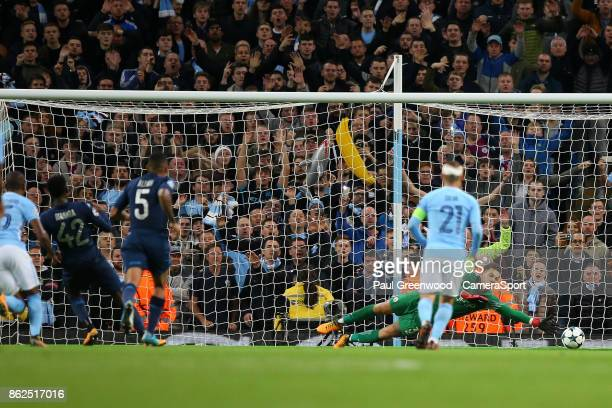 Amadou Diawara scores his side's first goal from the penalty spot to make the score 21 during the UEFA Champions League group F match between...