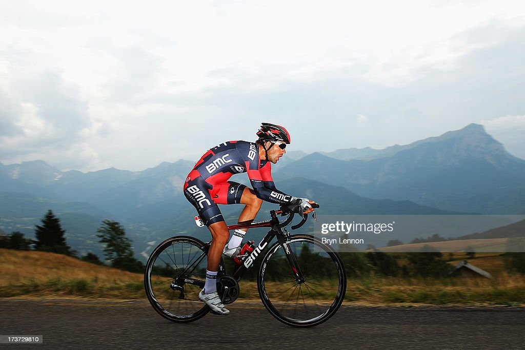 <a gi-track='captionPersonalityLinkClicked' href=/galleries/search?phrase=Amael+Moinard&family=editorial&specificpeople=4158993 ng-click='$event.stopPropagation()'>Amael Moinard</a> of France and BMC Racing Team rides during stage seventeen of the 2013 Tour de France, a 32KM Individual Time Trial from Embrun to Chorges, on July 17, 2013 in Chorges, France.