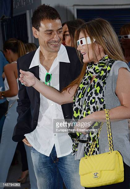 Amaia Montero and Omar Oyyashi attend Omar Oyyashi's exhibition at PhotoEspana International Festival on June 5 2012 in Madrid Spain