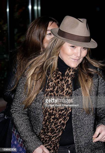 Amaia Montero attends the funeral chapel for actor Fernando Guillen at Tres Cantos Chapel on January 17 2013 in Madrid Spain