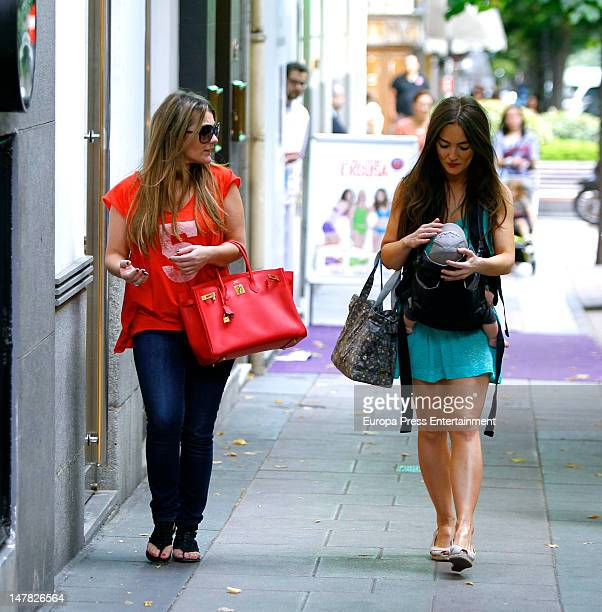 Amaia Montero Idoia Montero and her baby are seen on July 3 2012 in Madrid Spain