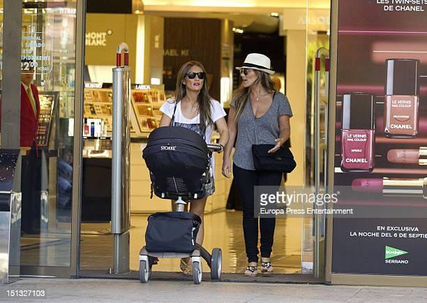 Amaia Montero Idoia Montero and her baby are seen on September 5 2012 in Madrid Spain