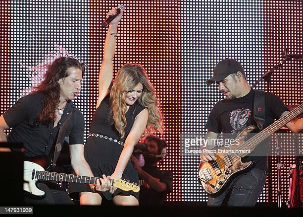 Amaia Montero performs during Rock in Rio Madrid 2012 on July 5 2012 in Arganda del Rey Spain