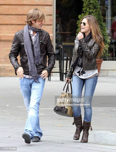 Amaia Salamanca and Rosauro Baro sighting on March 16 2011 in Seville Spain