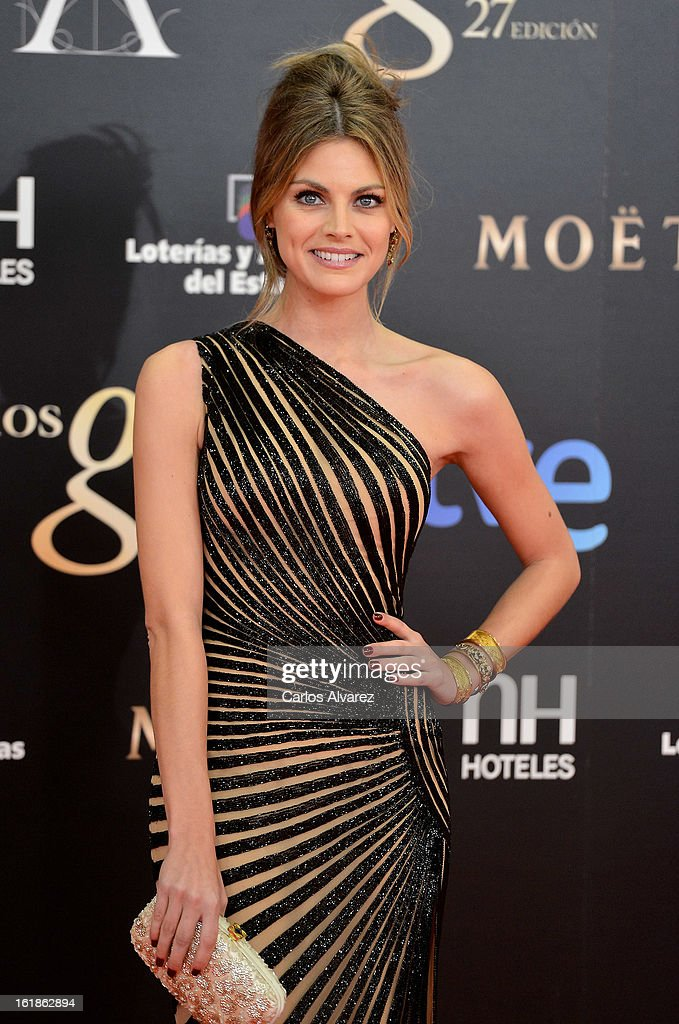 Amaia Salamanca attends Goya Cinema Awards 2013 at Centro de Congresos Principe Felipe on February 17, 2013 in Madrid, Spain.