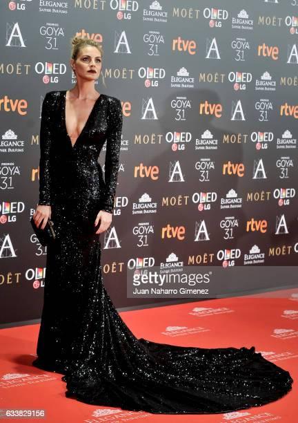 Amaia Salamanca attends Goya Cinema Awards 2017 at Madrid Marriott Auditorium on February 4 2017 in Madrid Spain
