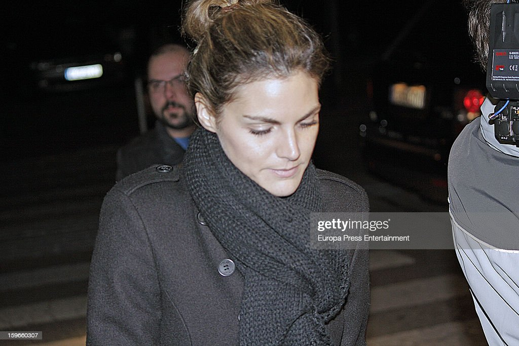 Amaia Salamanca attends the funeral chapel for actor Fernando Guillen at Tres Cantos Chapel on January 17, 2013 in Madrid, Spain.