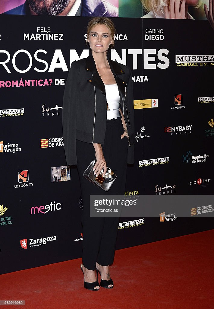 Amaia Salamanca attends the 'Nuestros Amantes' premiere at Palafox cinema on May 30, 2016 in Madrid, Spain.