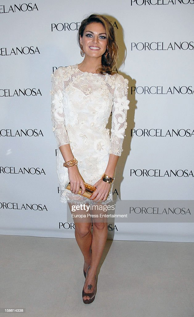 Amaia Salamanca attends the Porcelanosa new store opening on December 20, 2012 in Seville, Spain.