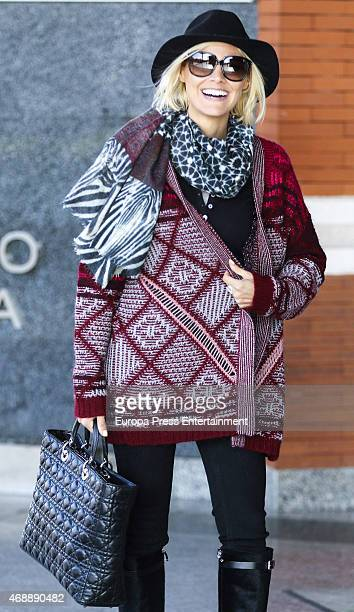Amaia Salamanca is seen on March 16 2015 in Madrid Spain