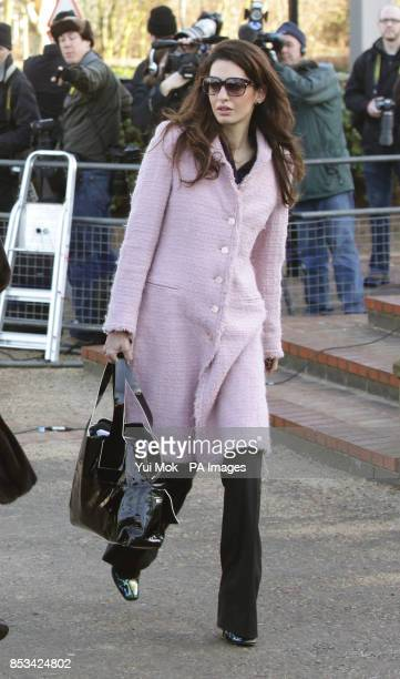 Amal Alamuddin arriving for the hearing of WikiLeaks founder Julian Assange who is facing extradition to Sweden where he is under investigation for...