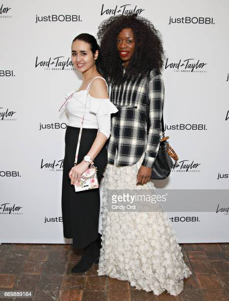 Amal Amamou and LonelyAmanda attend as Lord Taylor and Bobbi Brown celebrate the launch of the justBOBBI concept shop on April 17 2017 in New York...