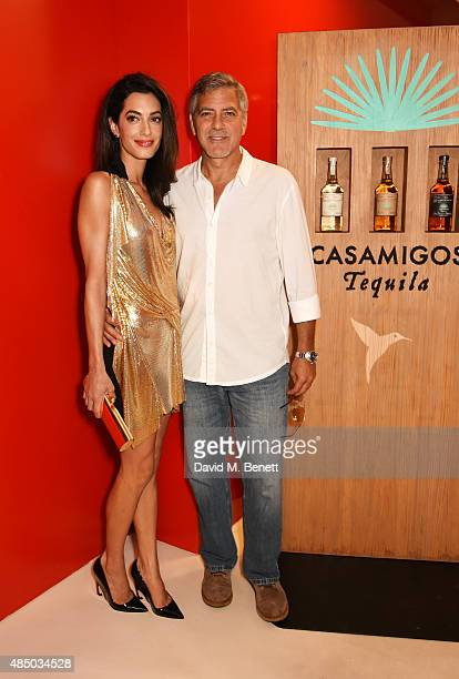 Amal Clooney and Founder of Casamigos Tequila George Clooney attend as Casamigos founders Rande Gerber George Clooney and Mike Meldman host the...