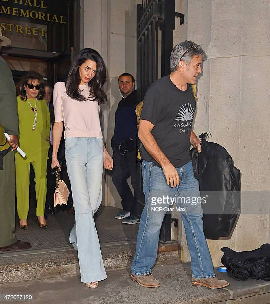 Amal Clooney and George Clooney are seen on May 2 2015 in New York City
