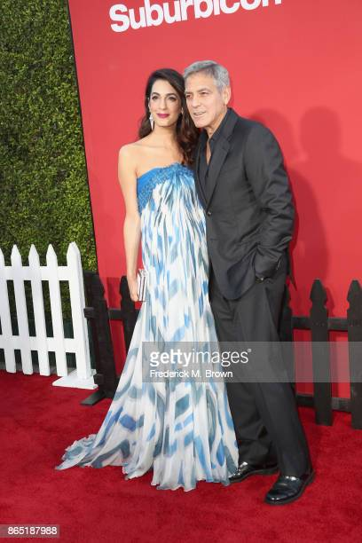 Amal Clooney and George Clooney at the Premiere of Paramount Pictures' 'Suburbicon' at Regency Village Theatre on October 22 2017 in Westwood...