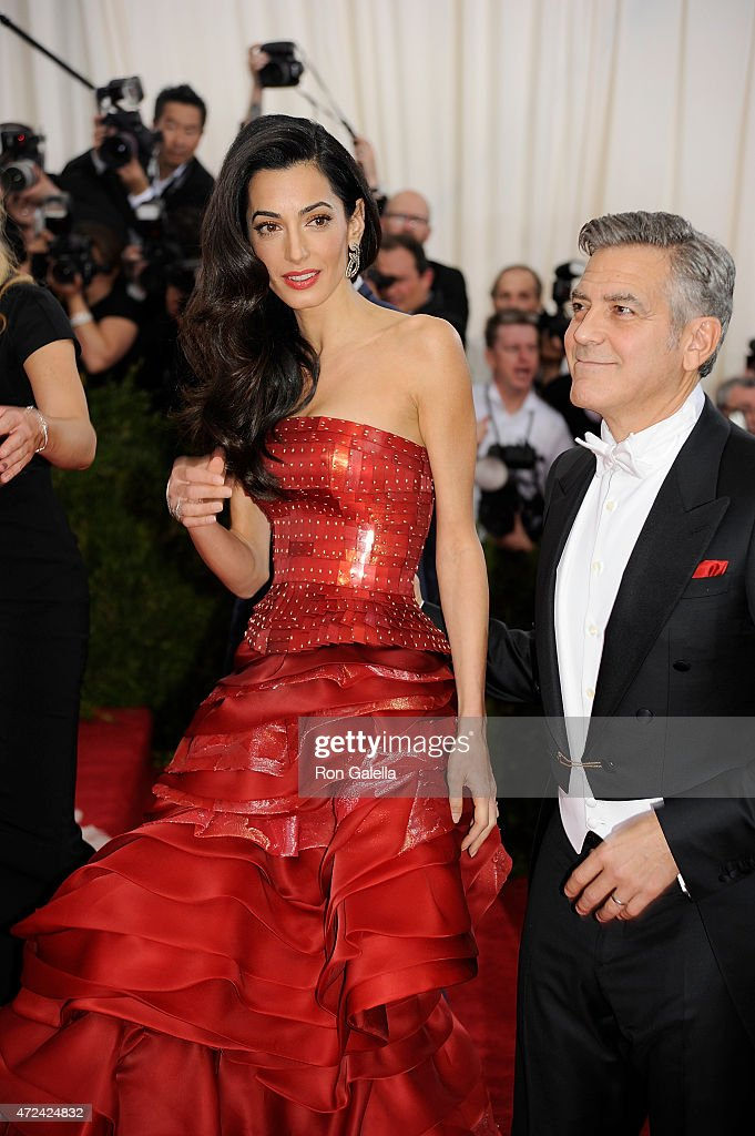 """Clooney & Amal - China: Through the Looking Glass: A handsome couple! George Clooney is the Cary Grant of today."" - Ron Galella 