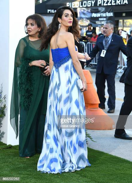 Amal Clooney and mom arrives at the Premiere Of Paramount Pictures' 'Suburbicon' at Regency Village Theatre on October 22 2017 in Westwood California