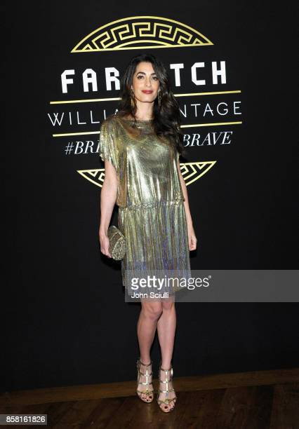 Amal Clooney at Farfetch and William Vintage Celebrate Gianni Versace Archive hosted by Elizabeth Stewart and William BanksBlaney on October 5 2017...