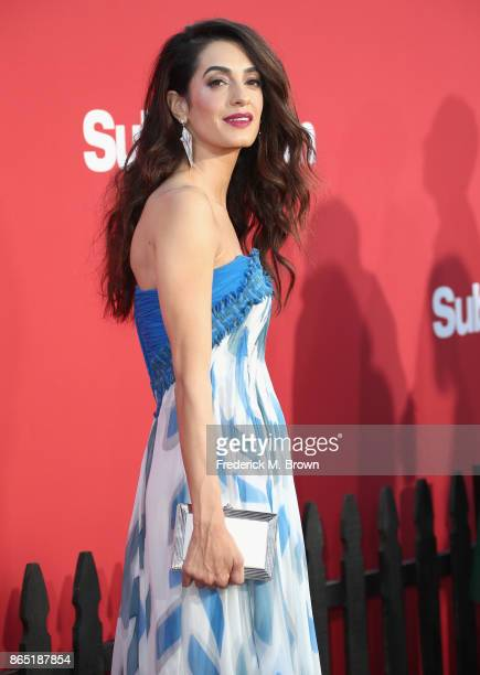 Amal Clooney at the Premiere of Paramount Pictures' 'Suburbicon' at Regency Village Theatre on October 22 2017 in Westwood California
