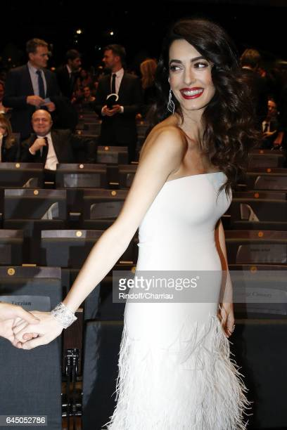 Amal Clooney attends Cesar Film Award 2017 at Salle Pleyel on February 24 2017 in Paris France
