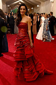 Amal Clooney attends the 'China Through The Looking Glass' Costume Institute Benefit Gala at the Metropolitan Museum of Art on May 4 2015 in New York...