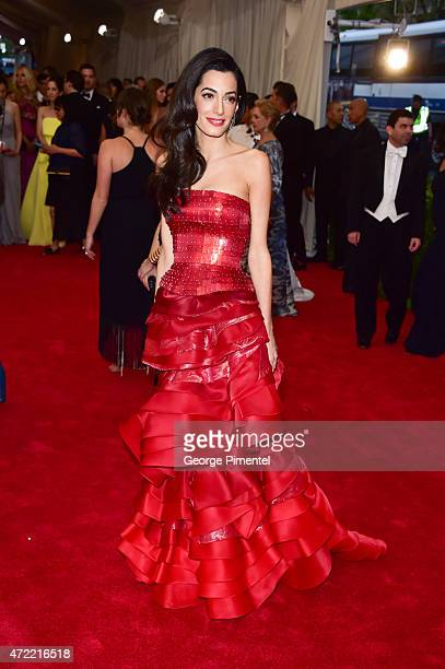 Amal Clooney attends the 'China Through The Looking Glass' Costume Institute Benefit Gala at Metropolitan Museum of Art on May 4 2015 in New York City