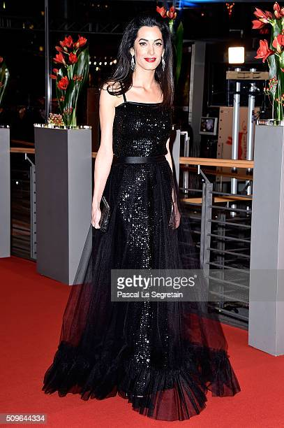 Amal Clooney attends the 'Hail Caesar' premiere during the 66th Berlinale International Film Festival Berlin at Berlinale Palace on February 11 2016...