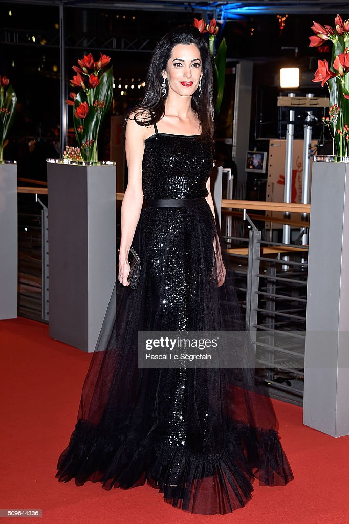 Amal Clooney attends the 'Hail, Caesar!' premiere during the 66th Berlinale International Film Festival Berlin at Berlinale Palace on February 11, 2016 in Berlin, Germany.