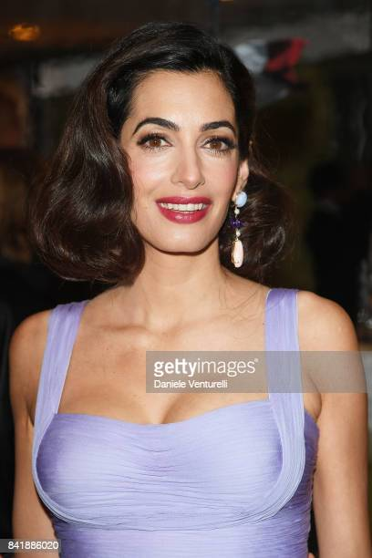 Amal Clooney attends the 'Hollywood Foreign Press Association Cocktail Party' during the 74th Venice Film Festival on September 2 2017 in Venice Italy