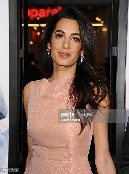 Amal Clooney attends the premiere of 'Our Brand Is Crisis' at TCL Chinese Theatre on October 26 2015 in Hollywood California