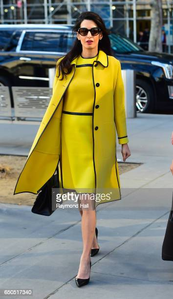 Amal Clooney is seen arriving at the 'United Nations' on March 9 2017 in New York City