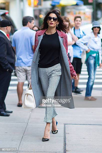 Amal Clooney is seen in the Upper East Side on September 17 2016 in New York City