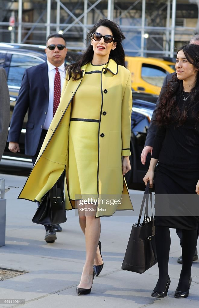 Amal Clooney is seen on March 9, 2017 in New York City.