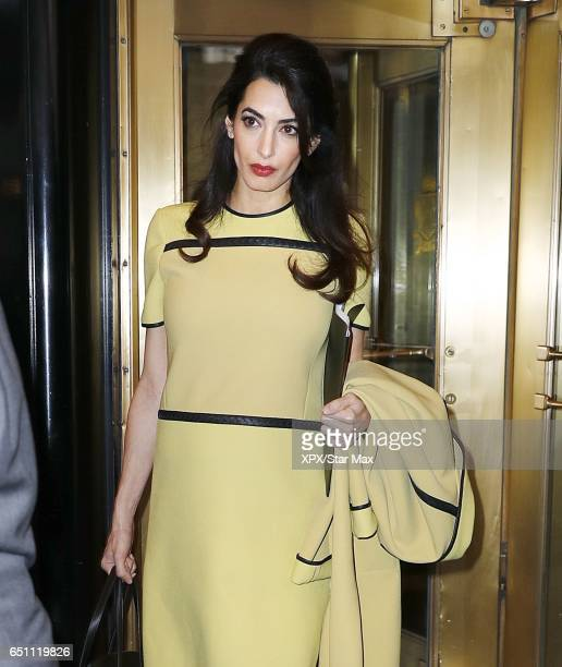 Amal Clooney is seen on March 9 2017 in New York City