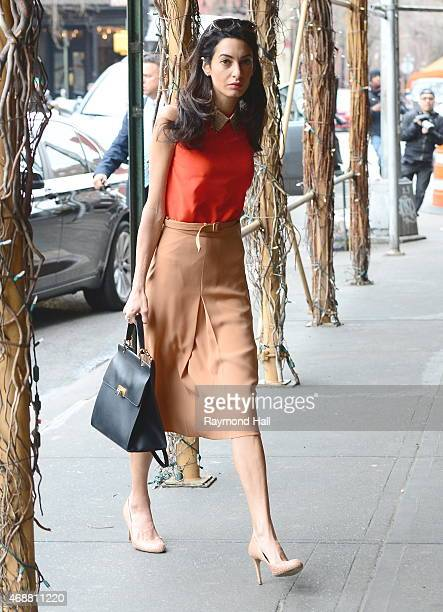 Amal Clooney is seen walking uptown on April 7 2015 in New York City