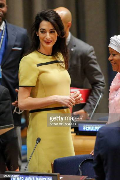 Amal Clooney Legal Representative for Nadia Murad and other Yazidi survivors attends 'The Fight against Impunity for Atrocities Bringing Da'esh to...