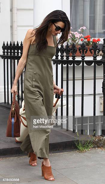 Amal Clooney seen in Notting Hill before heading to the airport on June 25 2015 in London England